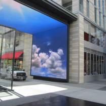 Barco Door display RPV with clouds