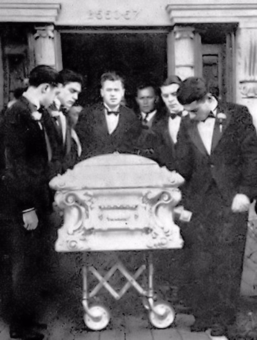 Aiello Casket leaving the house at his funeral