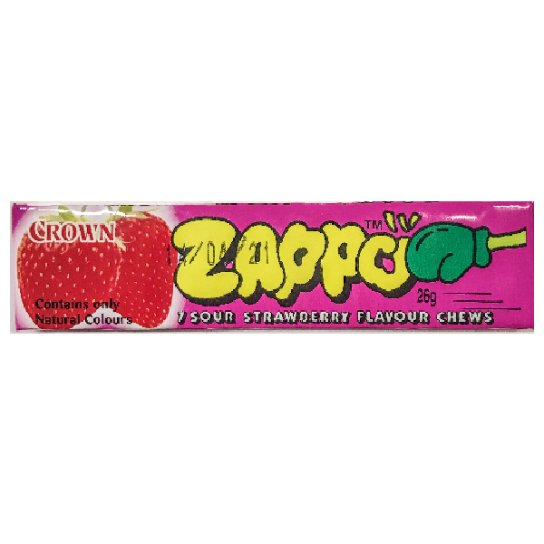 Zappo Sour Strawberry Chews