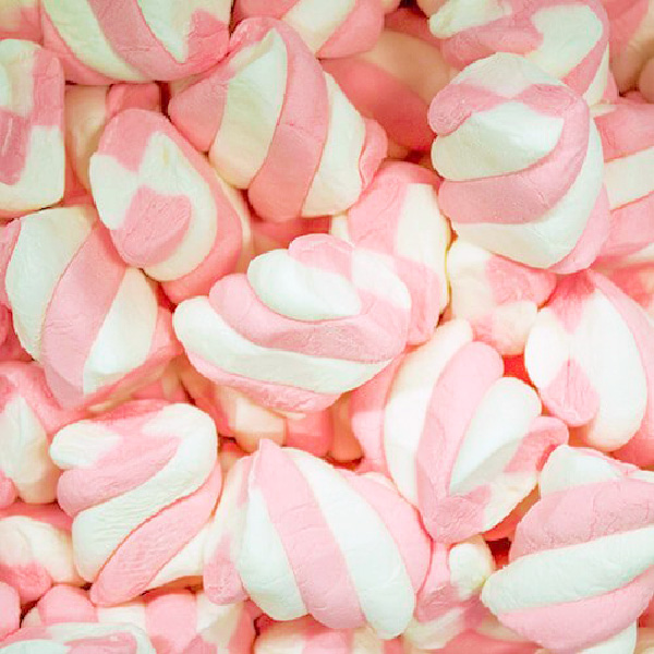 Pink & White Marshmallow Twists