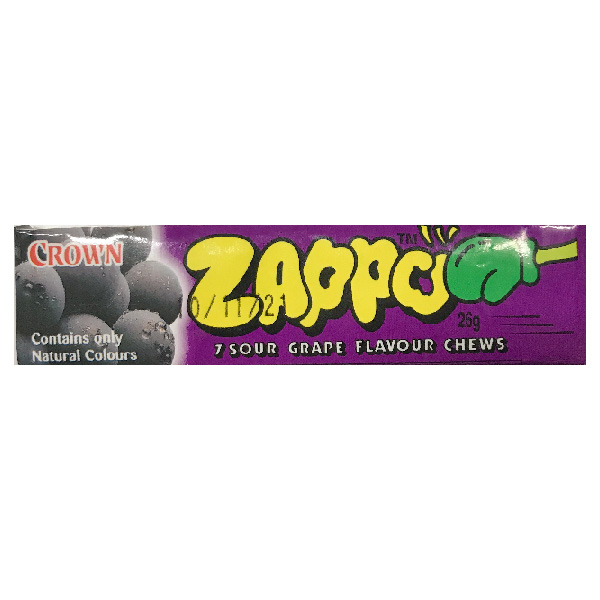 Zappo Sour Grape Fruit Chews