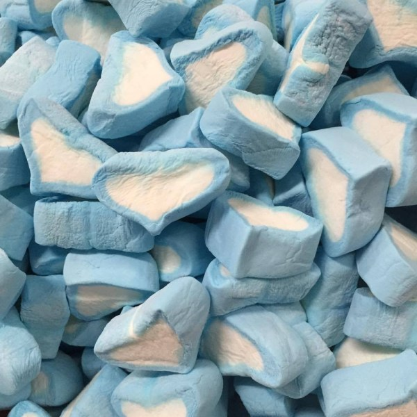 Blue Marshmallow Hearts
