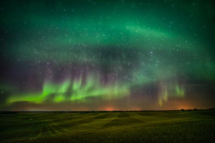 stars and aurora borealis