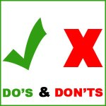 Do's and Don'ts – Promoting Covid-19 Vaccination Centres