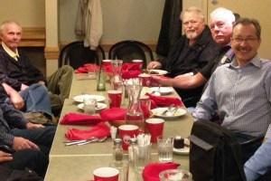 Photo of ACE Retirees (left to right): Jean-Rene, Jurgen, Doug, Keith, Valdi, John, Guy, Louis