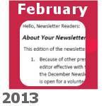 February 2013 HG Newsletter