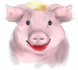 Drawing of Lipstick on a pig