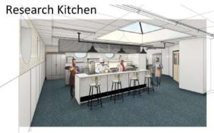 Drawing of RRC Research Kitchen