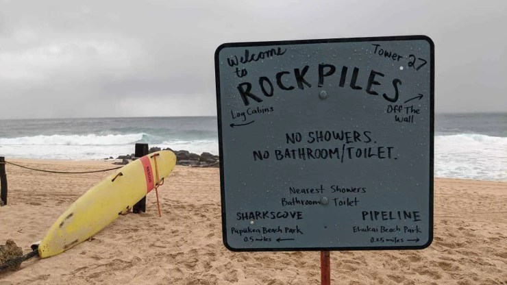 Rockpiles on the North Shore on Oʻahu.