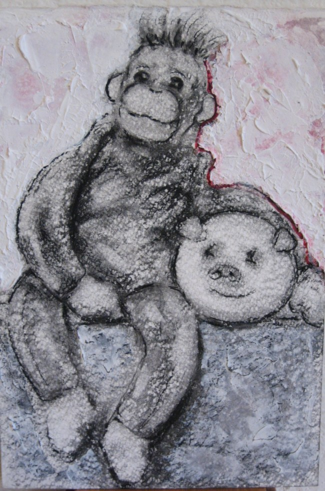 Transitional Objects: Monkey & Pig