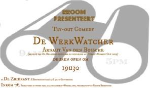 try-out comedy 'De Werkwatcher' Arnaut Van den Bossche 9/2/2016