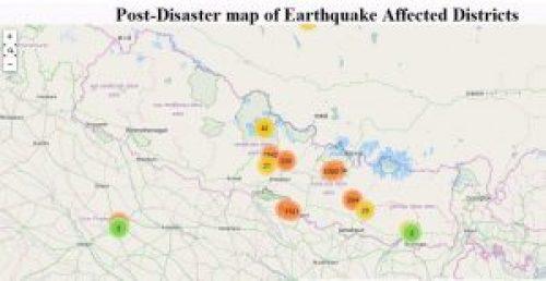post earthquake maps