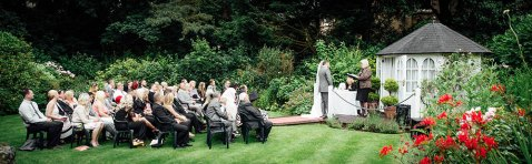Wedding ceremony at the Yenton Hotel in Bournemouth