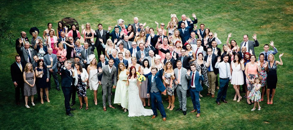 Group picture of the wedding guests