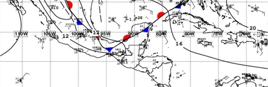 Frente frío provocará nublados parciales y lluvias a partir del jueves 18 de febrero