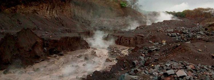 Se forma lahar en cauce de los ríos Cabello de Ángel y Nimá 1