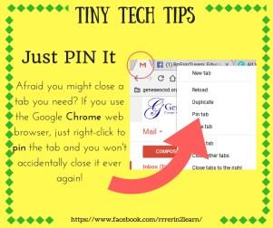 Tiny Tech Tip 1