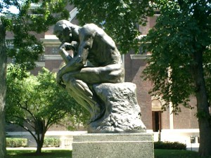 Rodin Thinker, Columbia University Campus