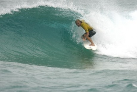 Currumbin Waters Chris Brooks tube rides his way to a O/40 men's state crown at the third and final round.