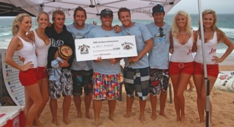 Bronte Boardriders with the spoils of victory.