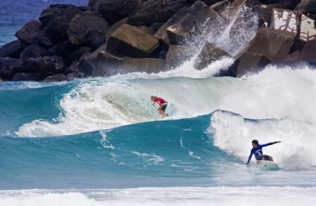 Mick Fanning (Tweed Heads) posted a near perfect 9.9 during the Jim Beam Surftag Series at Duranbah.