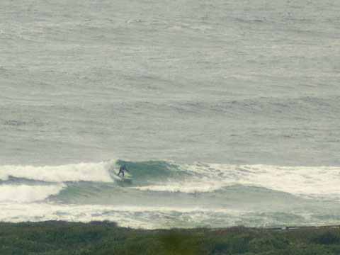 Mid-morning, still glassy, and quite surfable.