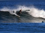 Light offshores and some south swell = fun.