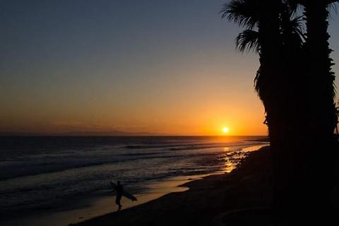 Sunset at California Street