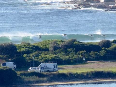 Bomb set wave arrives