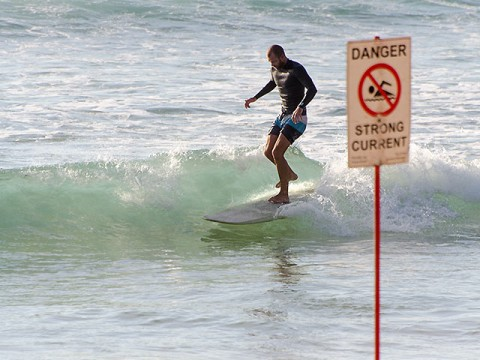 Not sure about the dangerous current, sure about the fun though.
