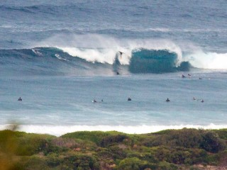 Large crew chasing some wild ones at the point @0700