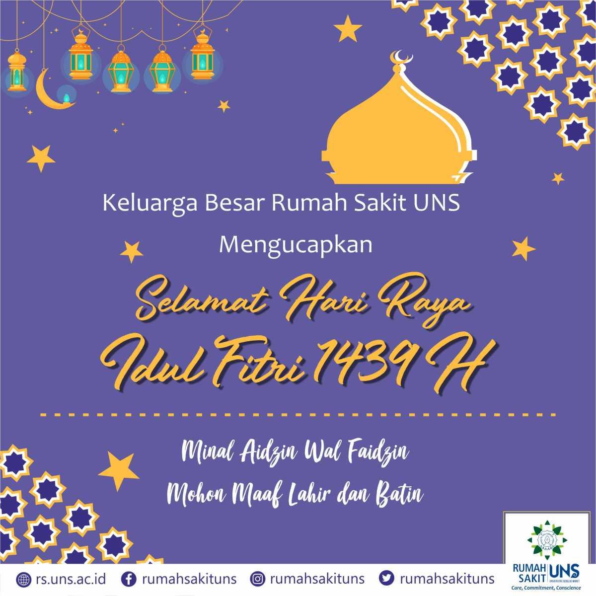Pelayanan Rumah Sakit Uns Masa Liburan Dan Cuti Bersama Idul Fitri 1439 H Rumah Sakit Uns