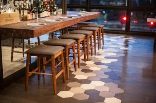 classic hexagon cement floor tile by