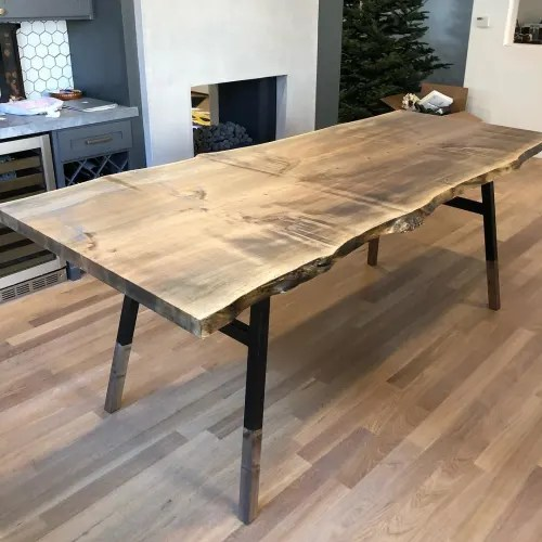 live edge table by hawk stone seen at