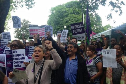 UNISON join in as Lambeth College strike enters ninth day