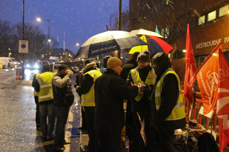 London bus drivers were undermined by the Unite bureaucracy when they went on strike in 2015.