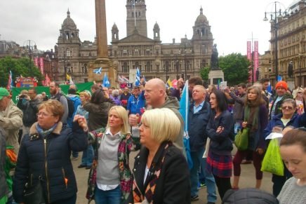 Thousands rally in George Square – report from Glasgow anti-austerity protest