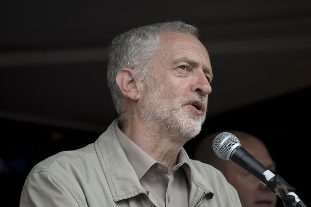 Jeremy Corbyn at the 20 June 2015 anti-austerity demonstration. Photo: Adam di Chiara.