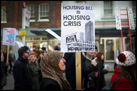 Local campaigns join forces to protest against the government's Housing Bill
