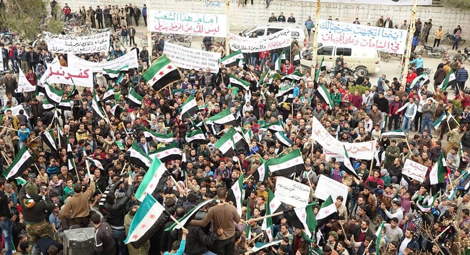 Protest in Kafranbel, Idlib