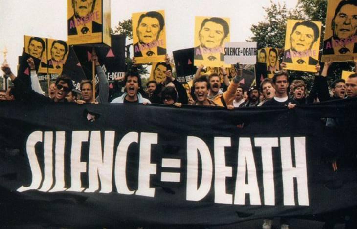 LGBT protestors condemn Reagan