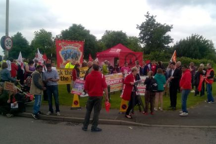 Samworth Brothers workers protest sacking of union activist