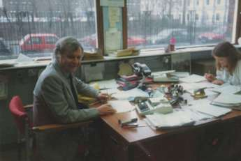 Bartley at his desk at Manchester University