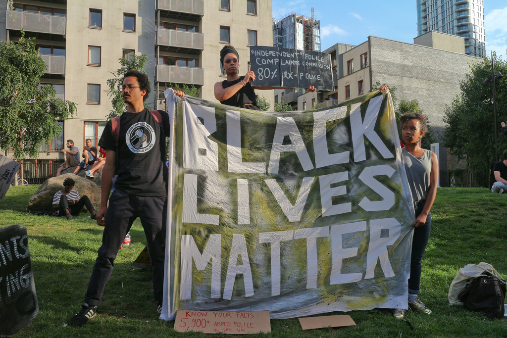 Black Lives Matter protestors in London (Photo: Steve Eason)