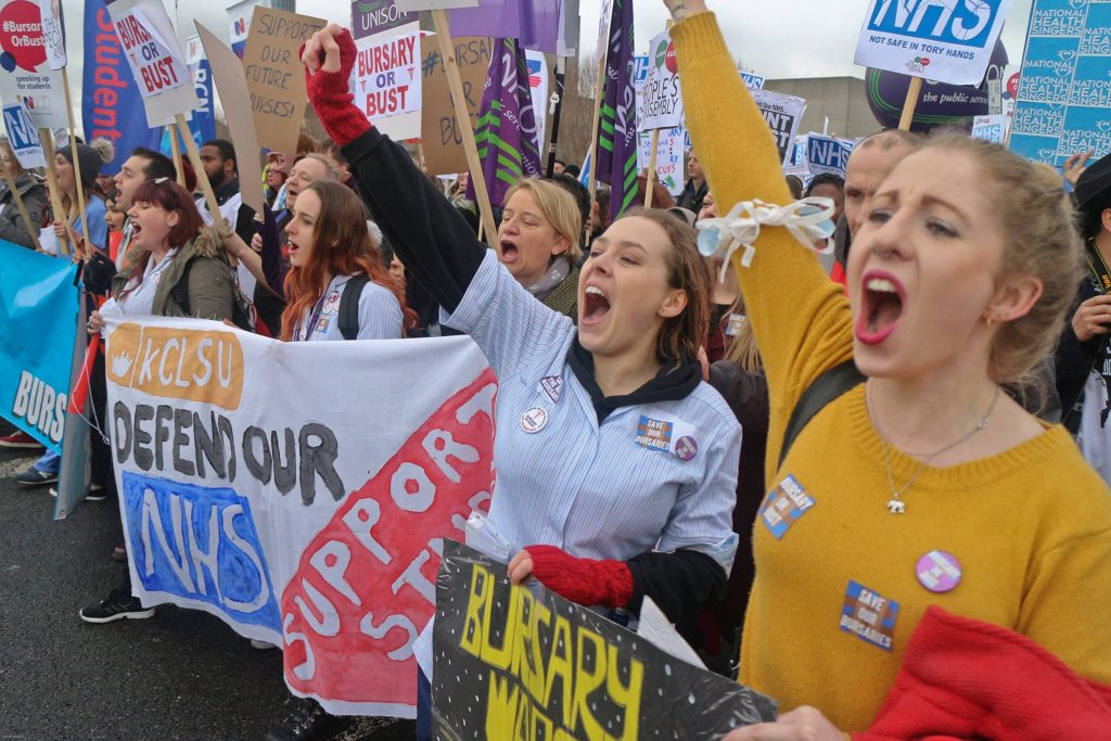 Save NHS bursaries march, Jan 2016 (Photo: Steve Eason)