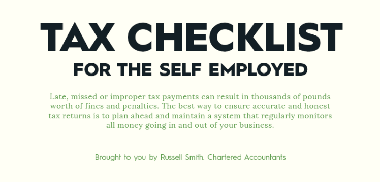 Tax checklist for the self employed - Russell Smith Chartered Accountants in Leeds
