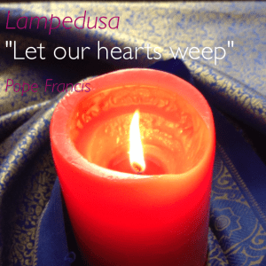 "Lampedusa: ""Let our hearts weep"". Pope Francis"