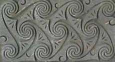 Celtic spirals engraved in stone