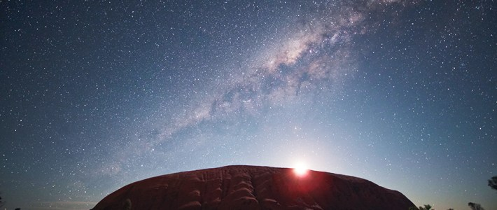 photo of the milky way over Uluru