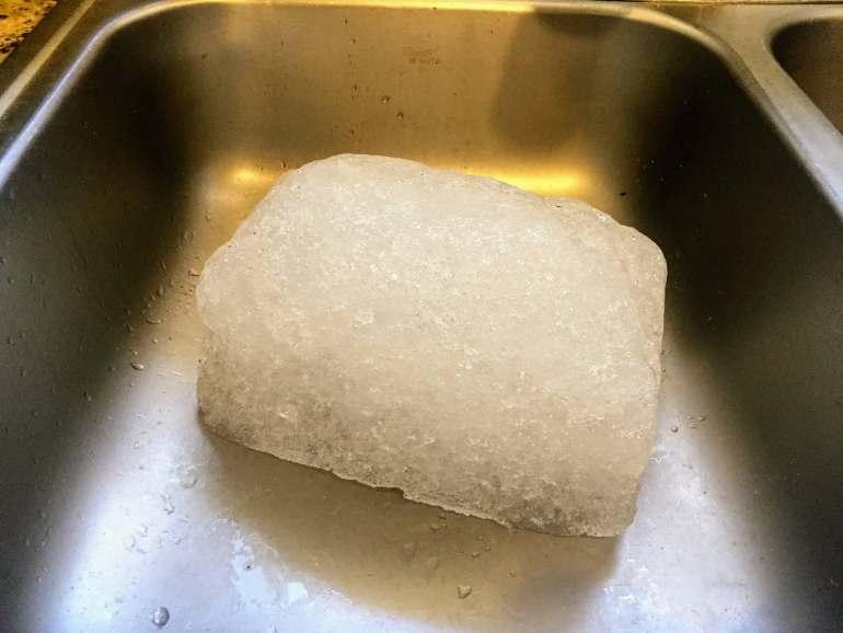cooler ice block